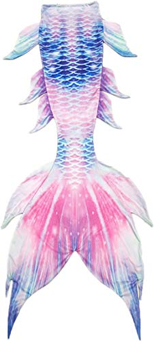 Kids Girls Boys Adult Women Mermaid Tail Luxurious Swimming Tail (Blue&Pink Tail only, Adult M)
