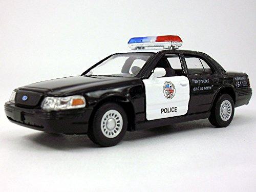 Ford Crown Victoria Police Interceptor 1/42 Scale Diecast Metal Model - BLACK