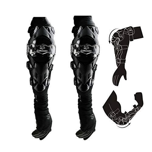 Rodilleras Protectoras para Motocicleta Protector de Rodilleras Motocross Cross Country Brace Codo Racing Rodilleras de protección -, K09-Red, tamaño Libre