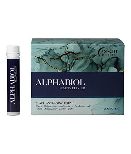 alphabiol Kollagen + Hyaluronsäure – Luxus Beauty-Drink I Schöne Haut von innen I Hochwertige Inhaltsstoffe I Made in Germany (28 Trinkampullen)