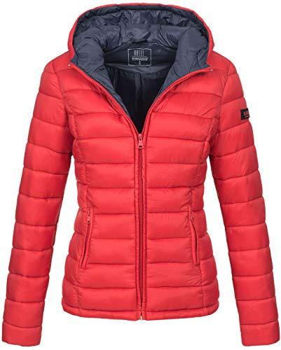 Marikoo Damen Jacke Steppjacke Übergangsjacke gesteppt B651 [B651-Luc-Rot-Gr.XS]