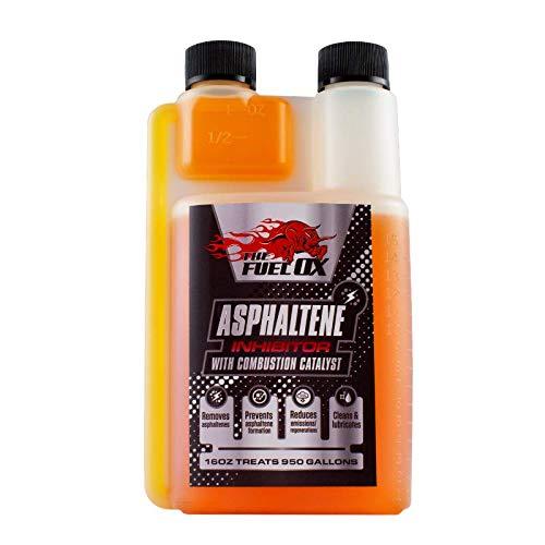 Fuel Ox Asphaltene : Asphaltene Inhibitor & Combustion Catalyst - Diesel Engine Treatment- Removes Asphaltenes Formations Lubricates, Increases Mileage, Decreases Regens - 16oz Treats 1250 Gallons