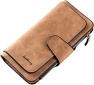 Baellerry Yellow Leather For Women - Trifold Wallets