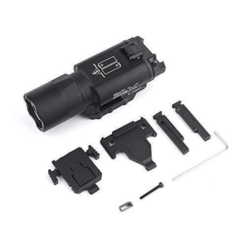 WADSN X300 ULTRA pistola de luz 510 lúmenes LED luz de exploración linterna táctica para caza Airsoft Picatinny (BK) ✅