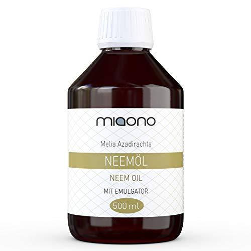 miaono - Aceite de neem prensado en frío con emulsionante (Rimulgan) Mezclado inmediatamente en Agua Soluble