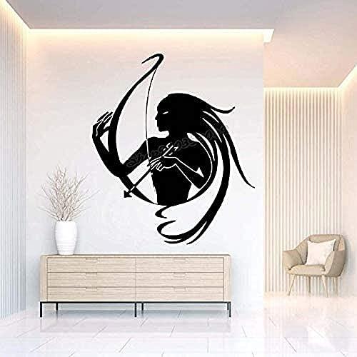 Sala de estar dormitorio decoración de la pared pegatinas de pared calcomanías de arquero pegatinas de cama arco y flecha objetivo pegatinas de pared diseño arte mural 49x42cm