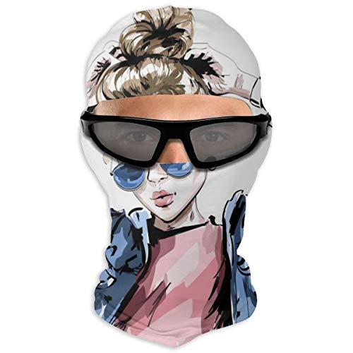N/A Full Face Masker Vrouwen In Jeans Jassen En Zonnebril - Mijn Stijl Hood Zonnebrandcrème Masker Dubbele Laag Koud Voor Mannen En Vrouwen