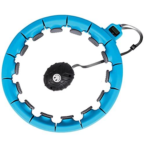 Opard Hula Hoop Reifen Erwachsene, Hulahupreifen Gewichteter Fitness & Massage Smart Timer Hoops für Anfänger, Männer und Frauen