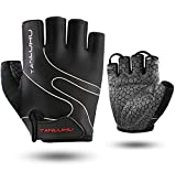 Tanluhu Cycling Gloves Bike Gloves Biking Gloves Half Finger Bicycle Gloves - Anti-SlipShock-Absorbing Padded Breathable Road Mountain Bike Glove for Men Women