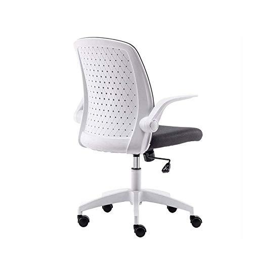 XiYou Chaises de Bureau en Maille Accoudoir réglable à Dossier Moyen Support Lombaire pivotant Chaise d'ordinateur de Style Moderne Chaise de Bureau Cadeau (93.5X64X44cm)