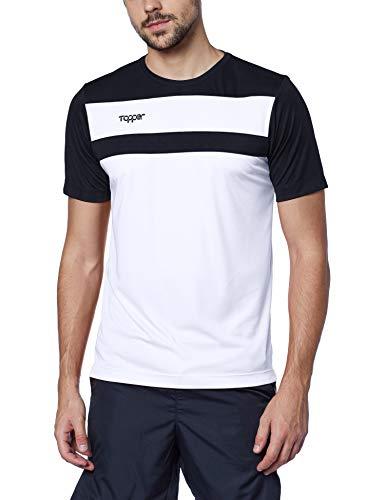 Camisa Futebol Drible, Topper, Masculino, Branco/Preto, GG