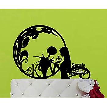 Decoración para tarta de boda, diseño de Jack y Sally, Pesadilla antes de Navidad, Jack Skellington: Amazon.es: Hogar