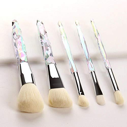 LXP Maquillage Pinceaux Set Fondation Surligneur Poudre Blush Fard À Paupières Brosse Maquillage Brosse Kit Outil, Blanc