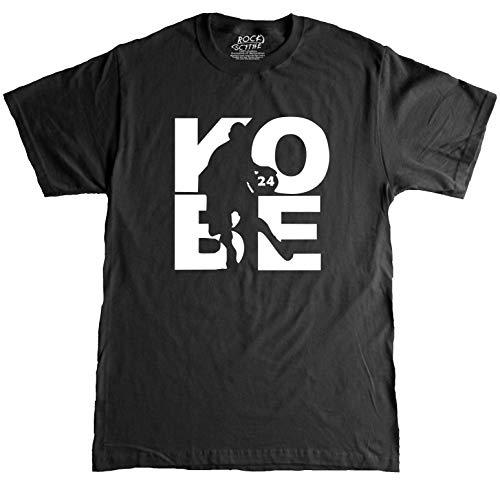 Rock Scythe - Kobe Fanware Basketball #24 T-Shirt Gift T-Shirt Adult T-Shirt Tee - Large-Black/White