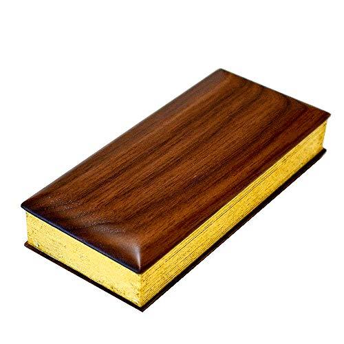 森の仏具 木製過去帳 サイズ:3.5寸 色:ウォールナット無垢材[日付あり]