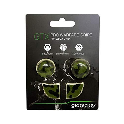 Gioteck - GTX XB1 - Funda Protectora de Silicona para Mando Xbox One, Protección para Joysticks, Antideslizante, Precisión Grips para Xbox One Camuflaje Verde (Xbox One)