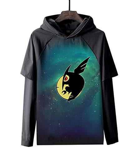 BOBD-DW Sudaderas Hombres Anime con Capucha Sweater Figura Camiseta De Anime Mangas Largas Akame ga Kill! Camiseta De Manga Larga De Película De Anime M