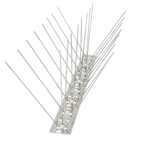 Bird Blinder Stainless Steel Bird Spikes for Pigeons and Other Small Birds – Industrial 4' Wide Design Contains no Plastic - (11 Foot Coverage)