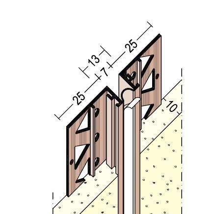 Bewegungsfugenprofil 10 mm 2,75 m VE=68,75 m (1 Bund)
