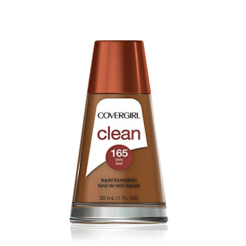 COVERGIRL Clean Makeup Foundation Tawny 165, 1 oz (packaging may vary)