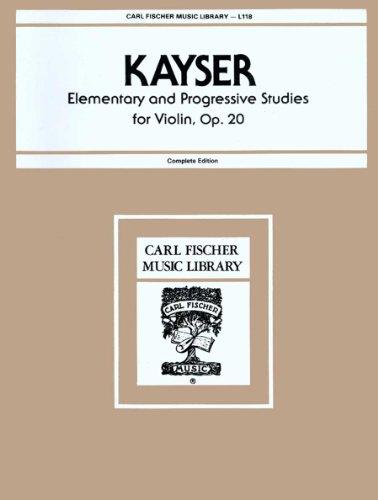 Elementary and Progressive Studies for Violin, Op. 20. L118