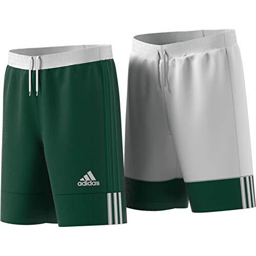 adidas Kinder 3G SPEE REV SHR Sport Shorts, Dark Green/White, 7-8Y