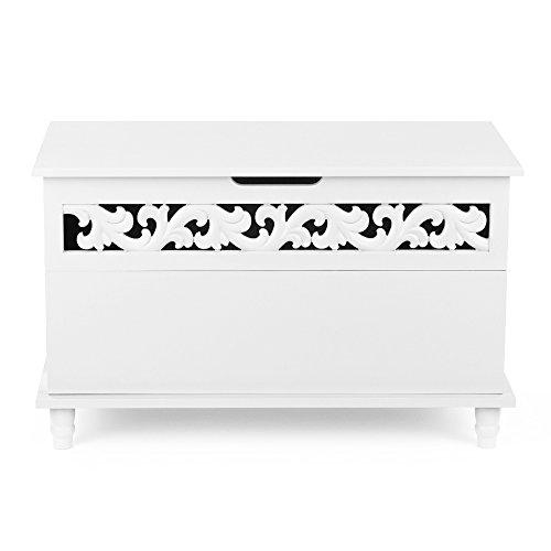 IKAYAA Mobiletto del Bagno, Mobiletto con 4 Cassetti e 1 Porta Contenitore Multiuso in Lengo Bianco 78 X 40 X 48 cm