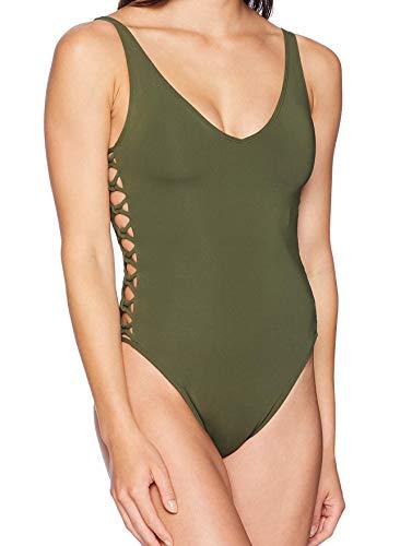 Bleu Rod Beattie Women's Side Knot One-Piece Swimsuit, Oh So Knotty Amazon Green, 6