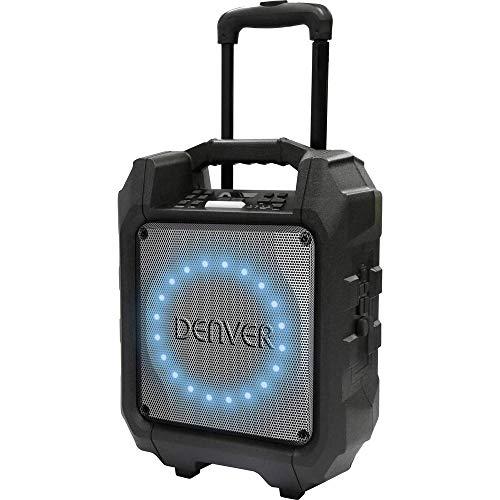 """Denver TSP-305 Altavoz Bluetooth de 6,5"""" con batería Recargable incorporada y luz LED en la Parte Delantera. Volumen 30W. Entrada USB para Entrada MP3 y AUX"""