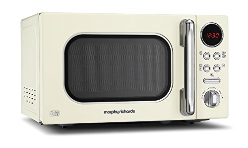 Morphy Richards Microwave Accents Colour Collection 511501 20L Digital Solo Microwave Cream