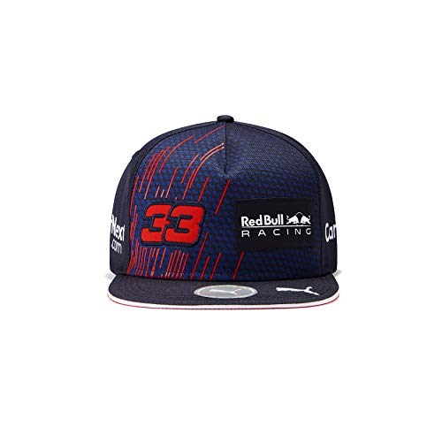 Red Bull Racing F1 2021 Team Max Verstappen Flatbrim Hat Navy