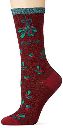 Burlington Damen Kiss Mas W SO Socken, rot (Mahogany 8344), Einheitsgröße (DE 36-41)