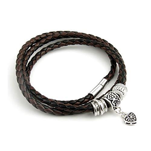 LSDJ QMDSH - Pulsera de moda (color metálico: marrón y negro)