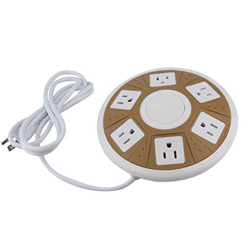 HehiFRlark Smart Socket 6-AC - Enchufe UFO con forma de regleta para uso doméstico y oficina (110-250 V)