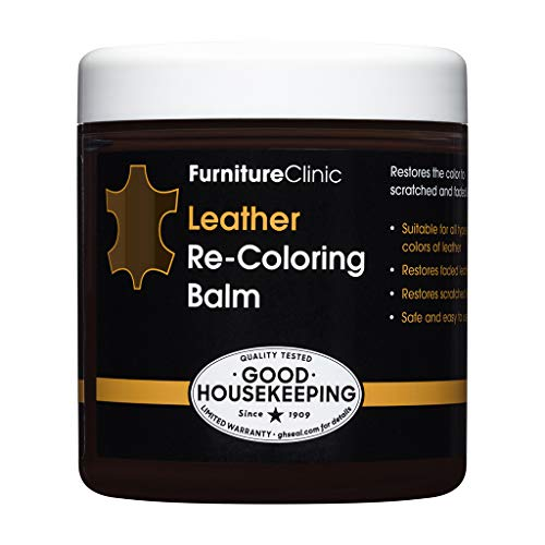 Furniture Clinic Leather Recolouring Balm - Leather Color Restorer for Furniture, Leather Color Repair for Faded & Scratched Sofas, Cars, Shoes and Clothing - 21 Colors for Leather Upholstery (Dark Brown)