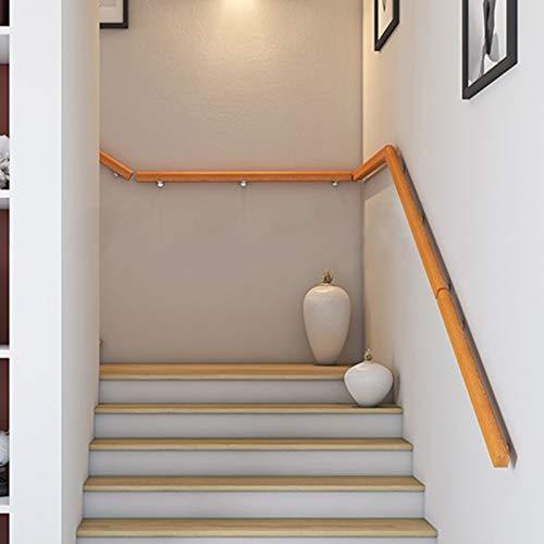 Pasamanos Pasamanos de Escalera Antideslizante para Villa/Jardín de Infantes/Casa Club, Barra de Soporte Sin Barreras de Madera Maciza de Estilo Japonés, Largo 50-450 Cm
