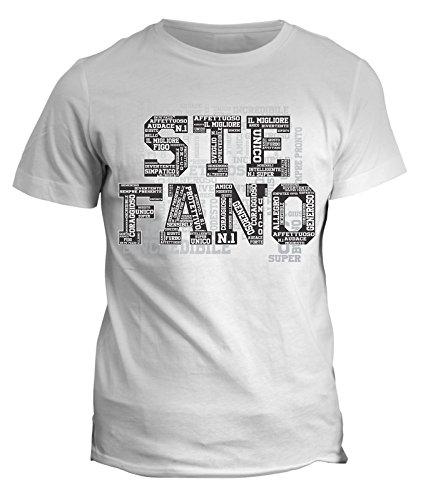 fashwork Tshirt Compleanno Stefano Nome del festeggiato Maglietta Unica e Originale - Eventi - Idea Regalo in Cotone