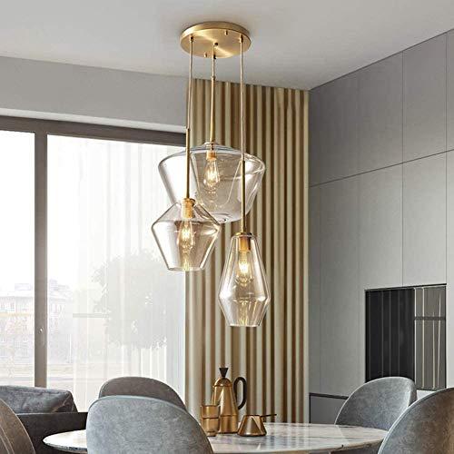 Nickacoo Retro Cluster Pendant in Antique 3-Light Hanging Lighting Fixture Vintage Chandelier Living...
