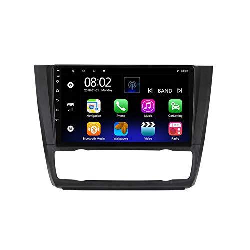 2 DIN 9' Touchscreen Autoradio Bluetooth Stereo Autoradio Vivavoce Lettore MP5 con Telecamera Posteriore, FM/USB/AUX/Mirror Link, per BMW 1 Serie/E88/E82/E81/E87 2008-2012,Quad Core,WiFi 1+16