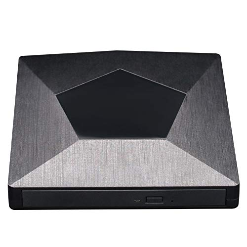 YanYun Externer 3D Blu Ray DVD Laufwerks Brenner, Ultra Slim USB 3.0 und Typ-C Blu Ray BD CD DVD Brenner Spieler Writer Leser Disk für PC MacBook iMac OS, Windows 7/8/10/XP, Laptop PC (Schwarz)