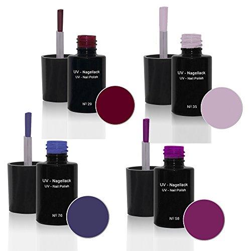 UV Vernis à ongles Set 4 x6ml - UV Vernis à ongles Set N°5