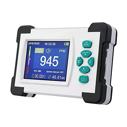 CO2 Messgerät,0-9999PPM Kohlendioxid Detektor,Luftqualitätsmonitor mit Mehrere Benutzerdefinierte Einstellungen für Luftqualität,Temperatur & Luftfeuchtigkeit
