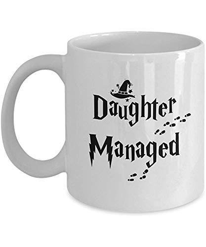 DAUGHTER MANAGED' Divertido para DAUGHTER Movies and Series Fan Club Addict Tazas De Café