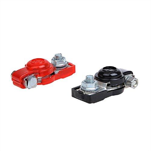 Batteriepolklemmen Set (+) und (-) mit Kunststoffbeschichtung rot/schwarz