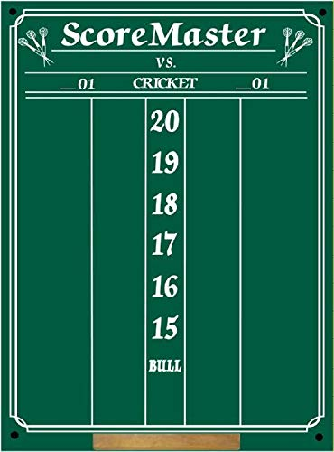Scoremaster Chalk Dart Scoreboard (Medium Size) Cricket & 01 Games