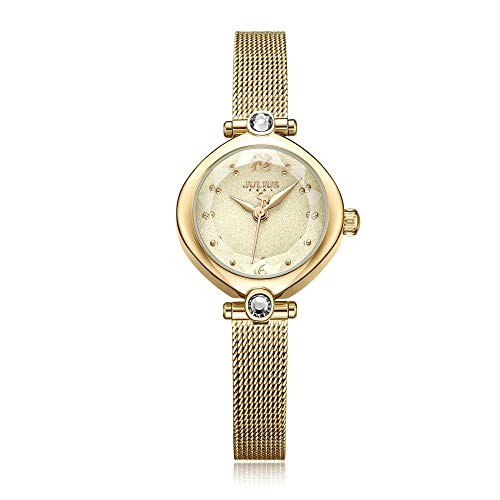 CHENDX Modelos Femeninos Auténtico Minimalista Acero Inoxidable Reloj de Cuarzo Impermeable (Color : C)