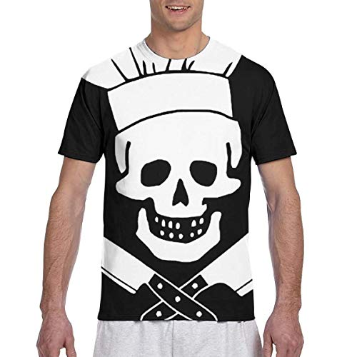 Zhgrong Herren T Shirts Chef Grill Sergeant Cooking Pirate1 Herren Athletic Kurzarm T-Shirts Rundhals T-Shirt