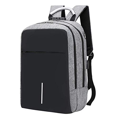 FEISHA Travel Laptop Backpack Anti-Theft Business Work Backpacks Bag With Usb Charging Port, Durable Water Resistant 15.6 Inch College School Computer Rucksack for Men Women (Grey)