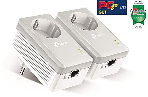 TP-Link TL-PA4010P Kit Powerline con enchufe adicional, AV 600 Mbps en Powerline, 1 puerto ethernet, homeplug AV, sin… 4