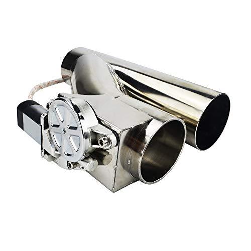 Mota Valvola di scarico flap controllo elettrico auto 51mm tubo di linea da 2,0 pollici silenziatore sport racing telecomando kit universale cromato in acciaio inossidabile